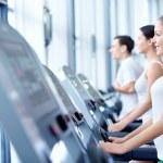 Sports on treadmills — Stock Photo