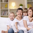 Family with children — Stock Photo #5040160