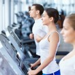 Stock Photo: Sports on treadmills