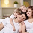 Stock Photo: Laughing families
