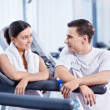 At the fitness club — Stock Photo