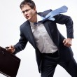 Businessman running — Stock Photo