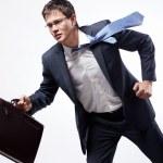 Businessman running — Stock Photo
