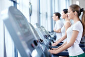 Sports on treadmills — Stock Photo
