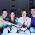 exibição de filmes em casa — Foto Stock
