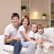 Family with children — Stock Photo #5148013