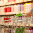 Shopping cart in supermarket — Stock Photo #4589083