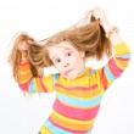 Studio shot of pretty little girl — Stock Photo #4522882