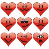 Heart Smiles to Valentine`s day — 图库矢量图片