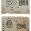 RUSSIA - CIRCA 1919 a banknote of 1000 rubles — Stock Photo