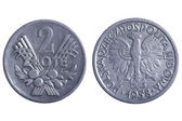 Polska coins — Stock Photo