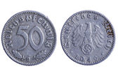 Deutches reich coins macro — Stock Photo