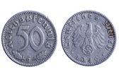 Deutches reich coins macro — Stock Photo