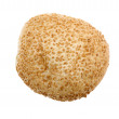 Bun with sesame seeds close up — Stock Photo