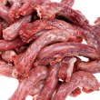 Chicken meat on white close up — Stock Photo