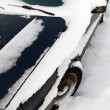 Car under snow close up - Foto de Stock