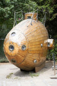 Wooden submarine — Stock Photo