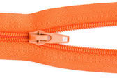 Orange sewing zipper — Stock Photo