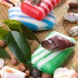 Soap with seashells — Stock Photo