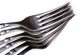 Kitchen utensil fork macro — Stock Photo