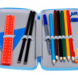 Pencil case macro — Stock Photo