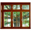 Oak for the wooden window - Stock Photo