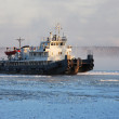 Icing tugboat — Stock Photo