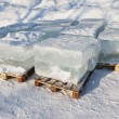 Stock Photo: Big translucent ice blocs
