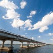 Bridge on the River Dnieper — Stock Photo