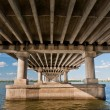 Stock Photo: Bridge on River Dnieper