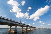 Bridge on the River Dnieper — Stock Photo