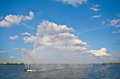 Fountain on the Dnieper — Stock Photo