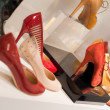 Stock Photo: Shoes on store (Shallow dof)