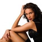 Young beautiful brunette woman — Stock Photo
