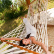 Young woman in hammock — Stock Photo #5037255