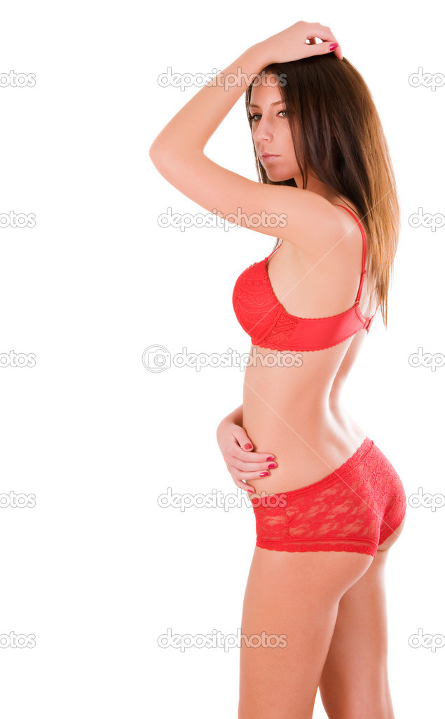 Sexy woman with perfect body (isolated on white background) — Stock Photo #5279575