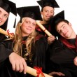 Group of happy students — Foto Stock