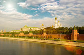 Sunrise above the Kremlin, Russia, Moscow — Stock Photo