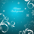 Winter floral background — Stock Vector #5266626