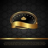 Королевский фон с золотой рамкой — Cтоковый вектор
