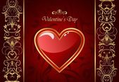 Creative Valentine greeting card with heart — Stock Vector