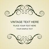 Vintage template — Vector de stock
