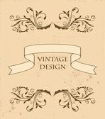 Illustration the retro vintage element for design — Stock Vector