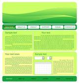 Ilustración de la plantilla de sitio web verde — Vector de stock
