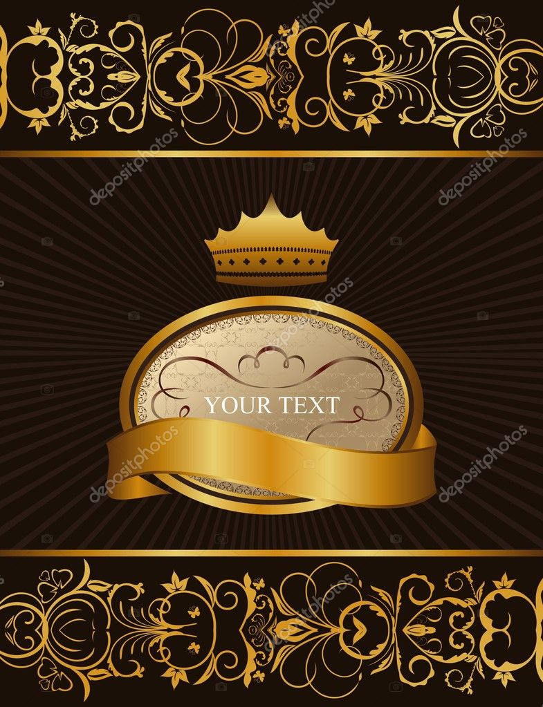 Illustration luxury background with crown - vector — Stock Vector #5266503