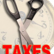 Stock Photo: Cut Taxes