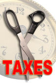 Cut Taxes — Stock Photo