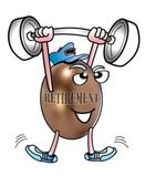 Retirement Weightlifter. — Stock Photo