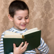 Boy and book — Foto de Stock
