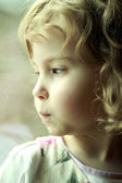 Upset and offended by a little girl — Stock Photo